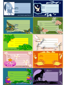 Assorted Animal Luggage Tags