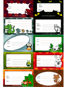 Assorted Creatures Luggage Tags
